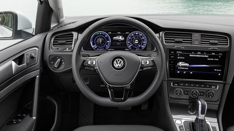 Volkswagen e-Golf 2017. Imágenes interiores.