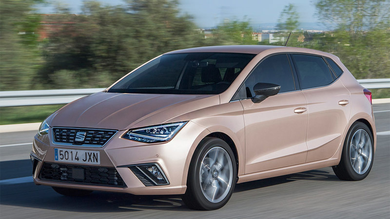 SEAT Ibiza 2017. Imagen frontal-lateral