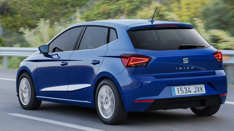 SEAT Ibiza 2017. Imagen lateral-posterior