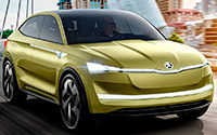 Škoda Vision E Concept. Imágenes exteriores.