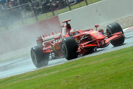Kimi Raikkonen. Silverstone 2008.