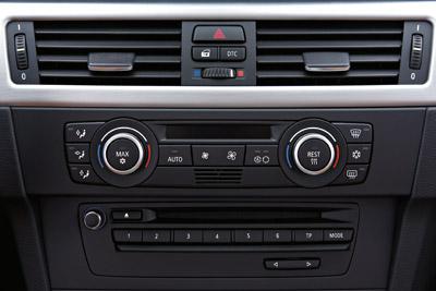 Consola. Salpicadero del del BMW Serie 3