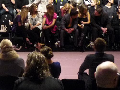 Fashion Week Berlin. Row 1.
