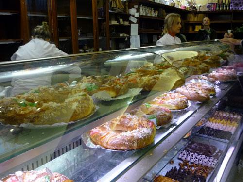 Horno La Santiaguesa. Roscones de Reyes.