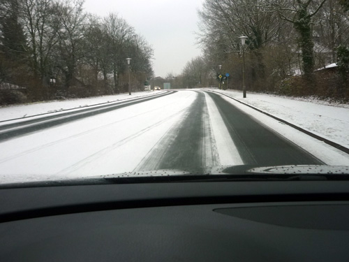 Passat EcoFuel. Carretera nevada.