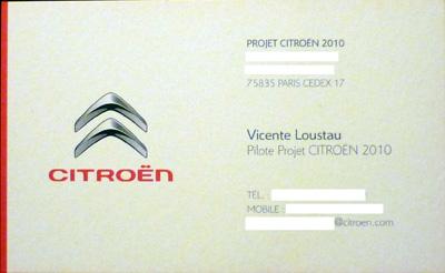 Vicente Lostau. Citroën.