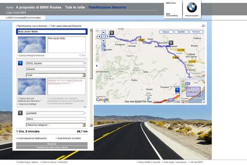 BMW Routes. Un viaje de internet al coche.