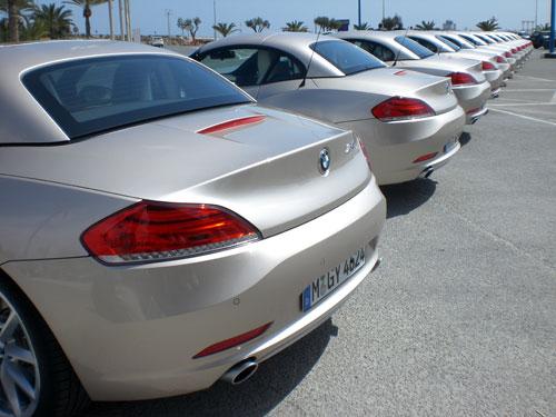 BMW Z4. Traseras alineadas.