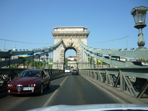 Puente de las cadenas. Budapest.