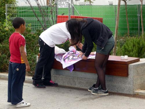 Camisetas Pintadas 1. Plaza Santo Domingo. Madrid.