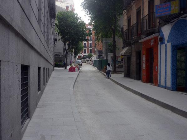 Obras. Calle de la Concepción Jerónima. Madrid 2009.