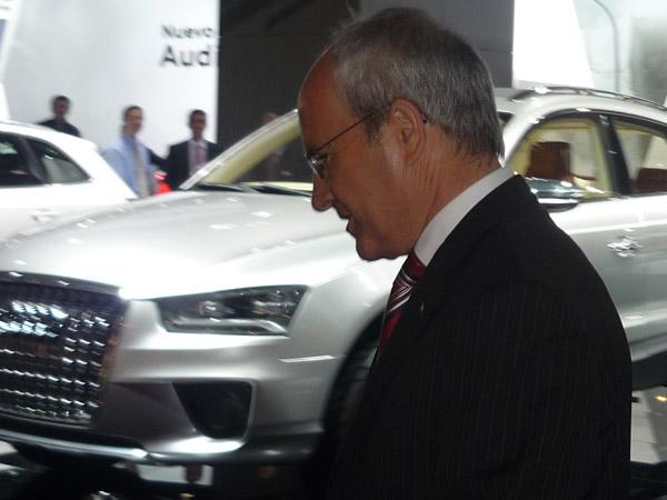 José Montilla. Audi Q3. Salón de Barcelona.