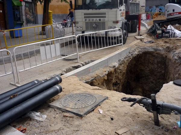 Calle de la Concepción Jerónima. Obras sobre lo nuevo.