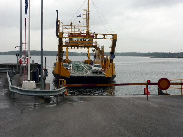Ferry en Suecia. Llegada.