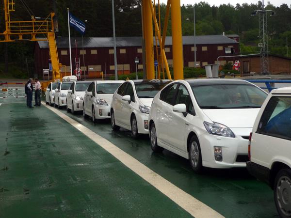 El Ferry de los Prius. Suecia.