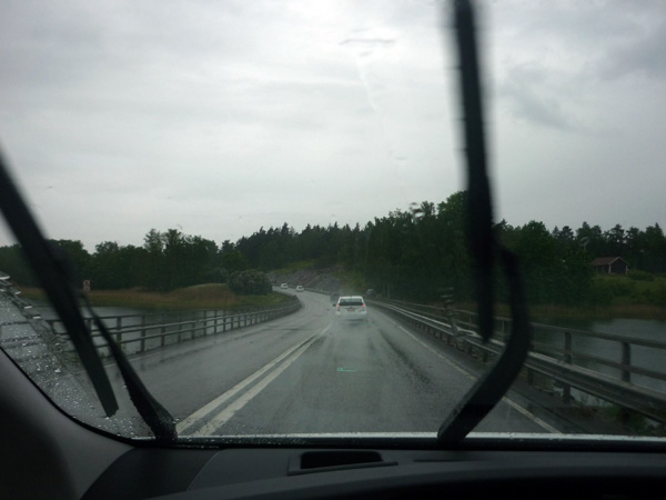Suecia. Lluvia en junio desde el Prius.