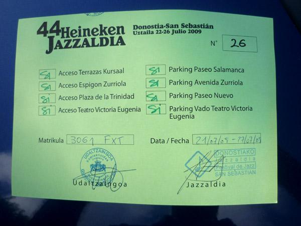 Skoda Octavia. Autorizado pFestioatival tival de JazzSebas ián. 2009.
