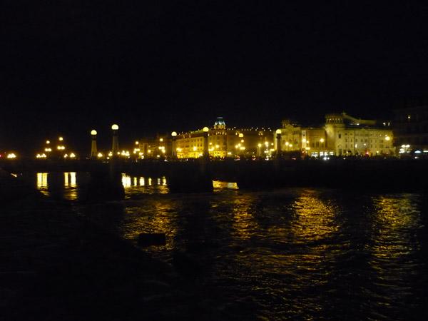 San Sebastián La nuit