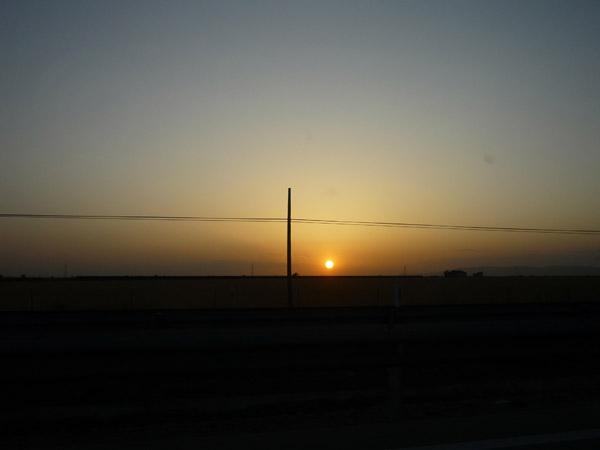 Desde nuestra furgona también se pone el sol