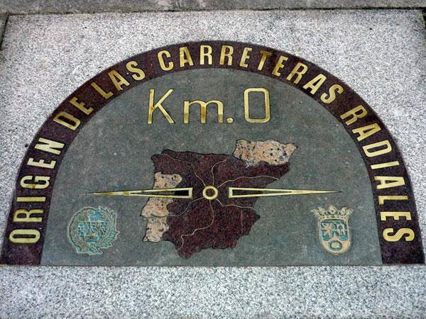 Puerta del Sol. Madrid. Km 0.