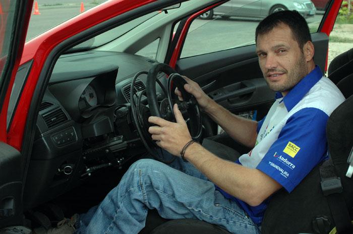 Albert Llovera. Fiat Punto de entrenamientos.