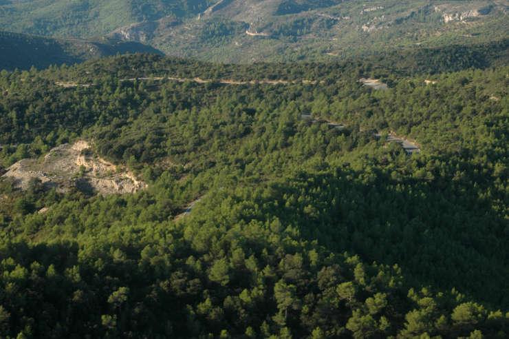Provincia de Tarragona. Vista aérea.