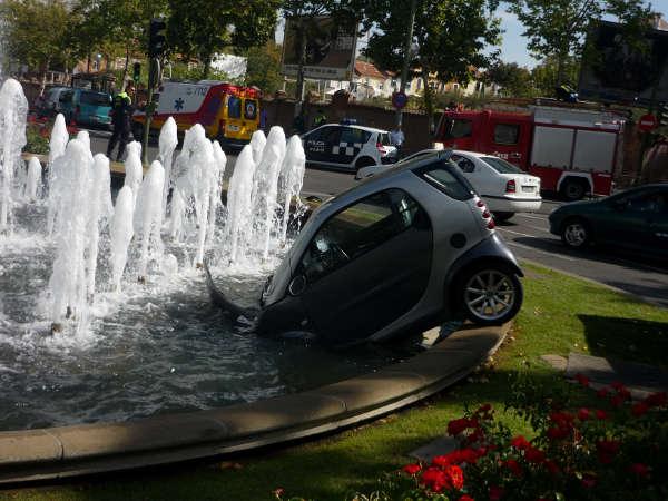 Un smart de baño en una fuente