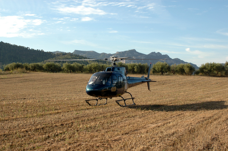 Helicóptero posado. Tarragona. 2009.