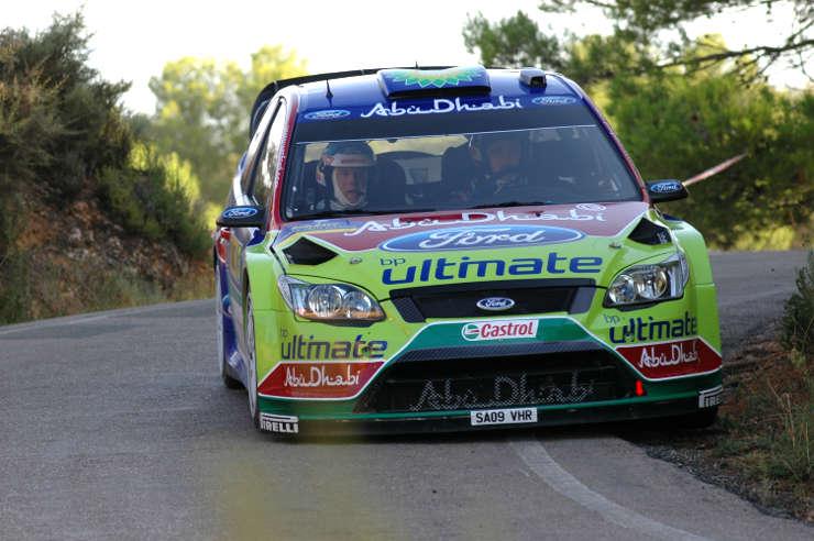 Mikko Hirvonen. Rally de España.