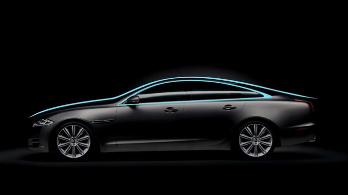Estudio de líneas. Diseño, Jaguar XJ