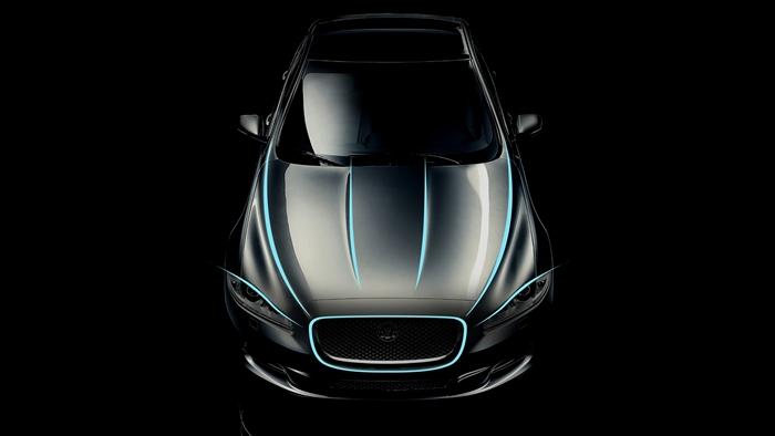 Jaguar XJ. Líneas del frontal.