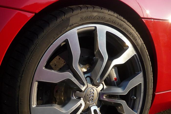 Rueda posterior. Audi R8 Spyder