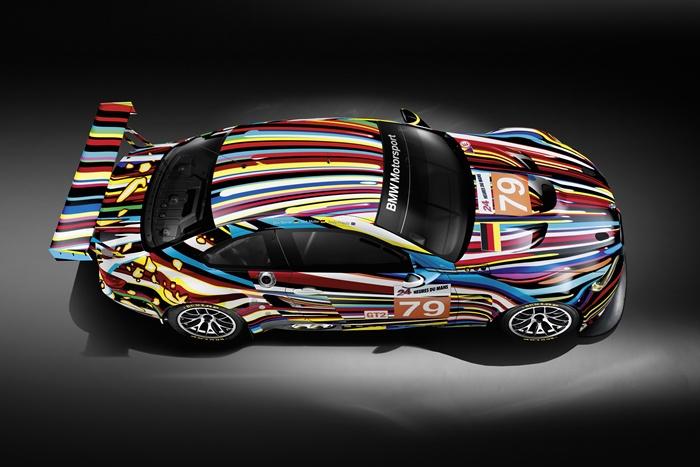 BMW M3 GT2 Jeff Koons. Cenital. 24 Horas de Le Mans