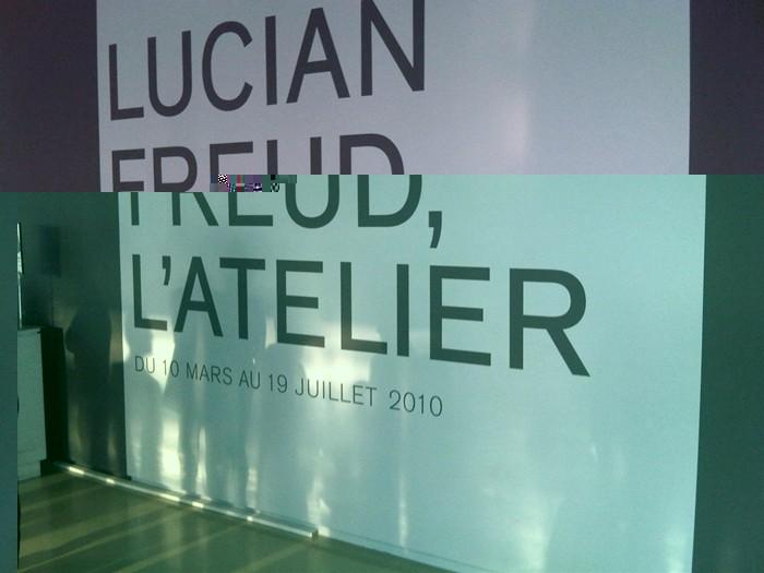 Lucian Freud y su taller. Centro Pompidou.