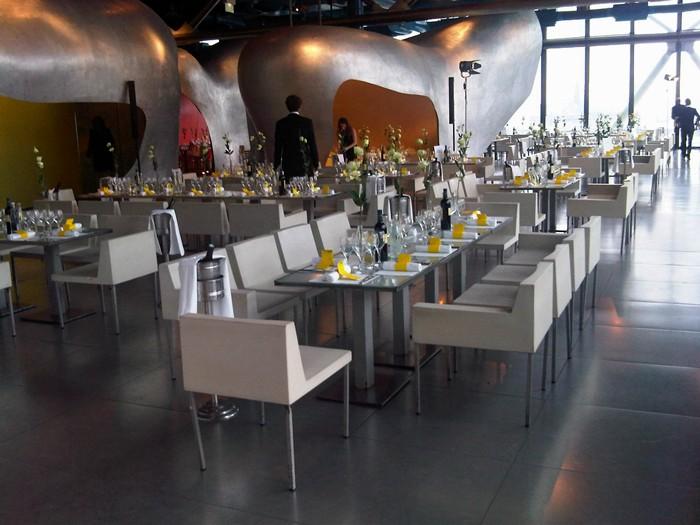 Cena en el Centro Pompidou.