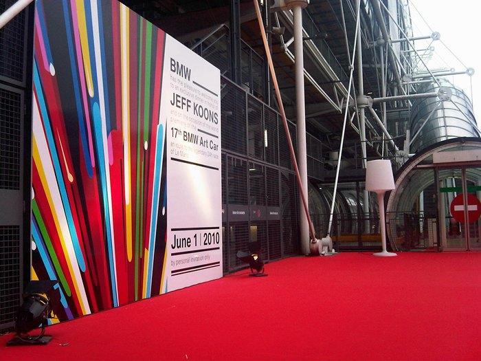 Centre Pompidou. Cerrado para el desvelo del coche.