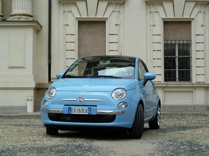 Fiat 500 twin air. Azul claro cha cha cha