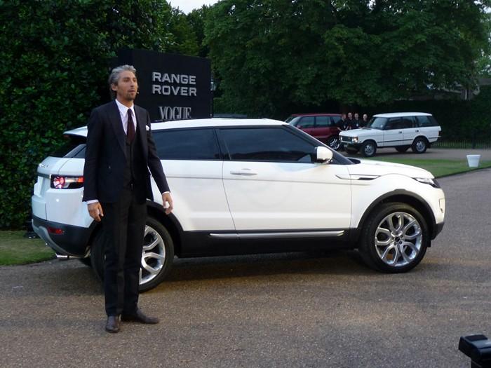 Range Rover Evoque. Vista lateral.