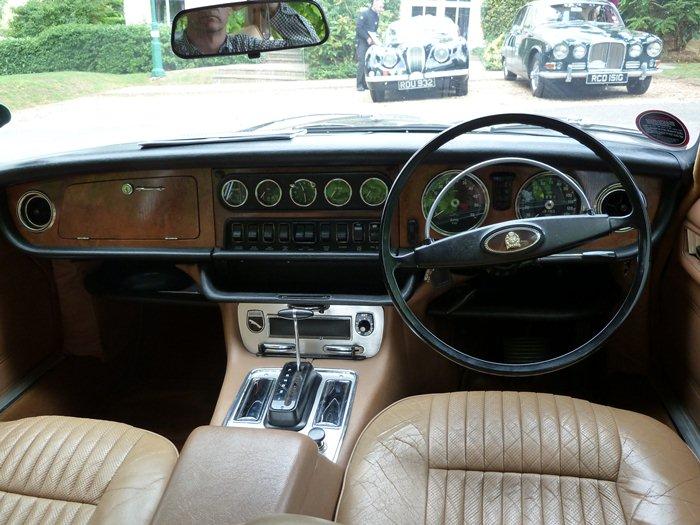 Jaguar XJ6 de Sir William Lyons. 1968. Asientos, salpicadero. 75 aniversario Jaguar