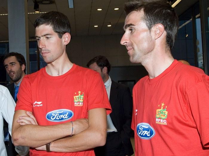 Imanol Erviti y Haimar Zubeldia. Selección española de ciclismo.