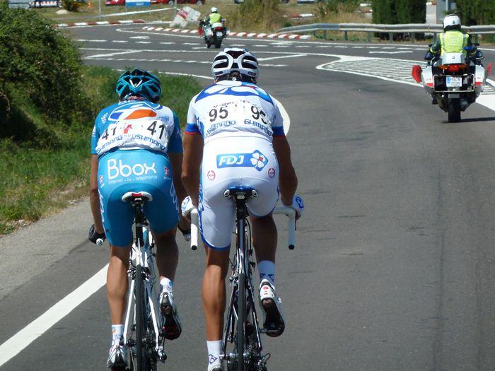 Ciclistas escapados. Números 41 y 95