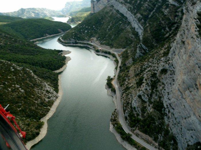 Vista aérea al sur de la Seu D'Urgell