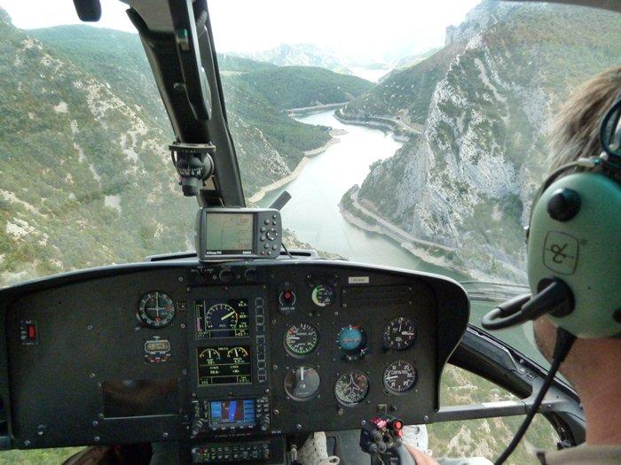 El helicoptero de la vuelta