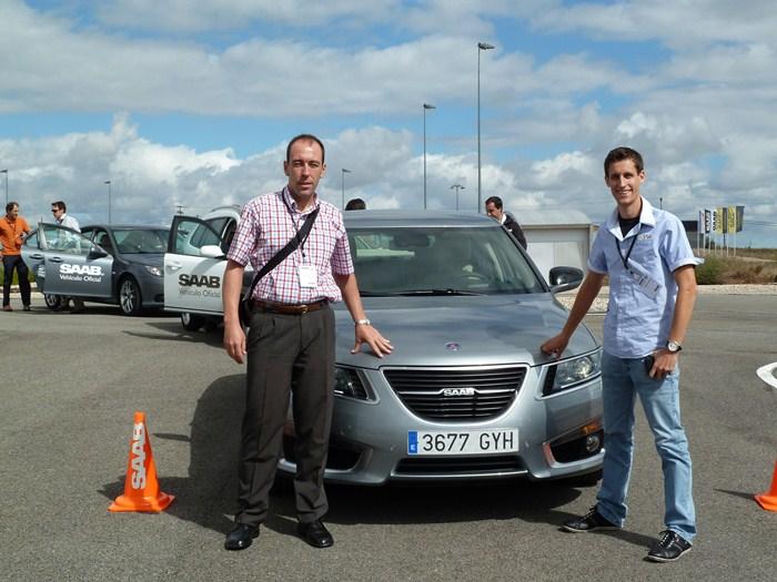 Luis, Saab 77 y Pablo. Lectores o casi de km77.com en el Saab Performance Program