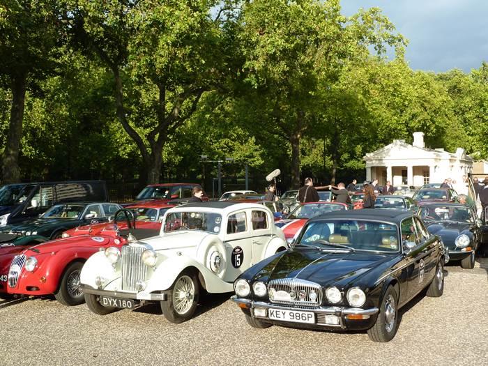 Londres. 75 aniversario de Jaguar. Coventry - London - Goodwood