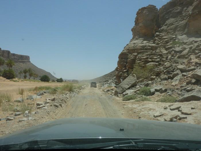 Después del oasis, las piedras. Marruecos.