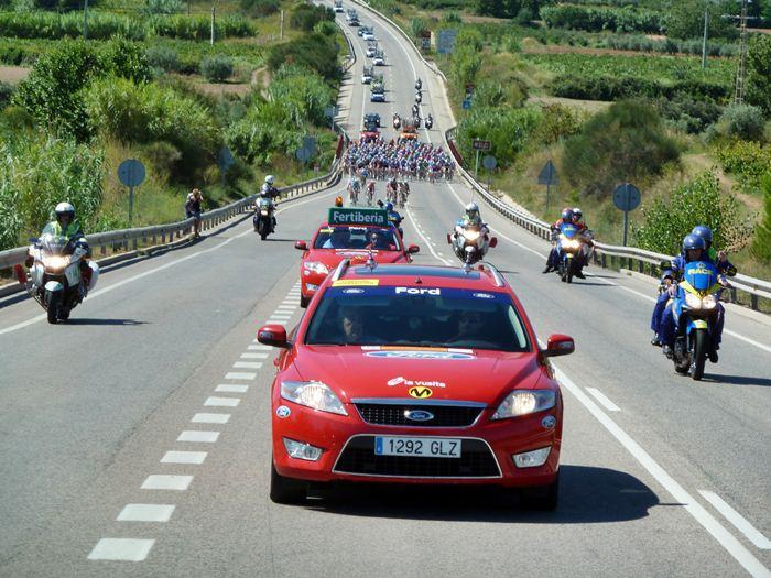 Vuelta ciclista a España. Inicio de etapa.