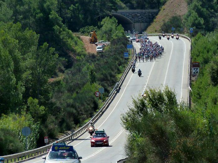 Vuelta ciclista a España. Vista general.