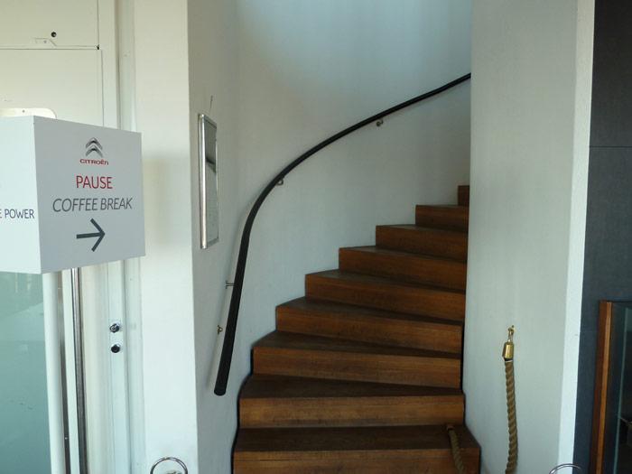 Las escaleras de la cafetería