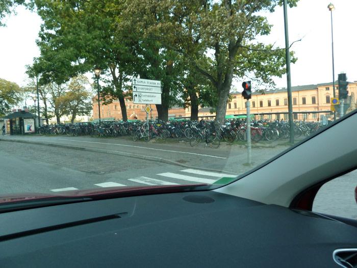 Aparcamiento para las bicicletas